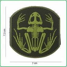 Patch 3D PVC Frog Skeleton Scheletro di Rana con Velcro Militare Soft Air Emerson Art.444150-3715