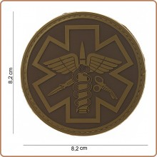 Patch 3D PVC Para Medic 118 Soccorso Sanitario Emergenza Infermieri Medici TAN Emerson Art.444150-3722