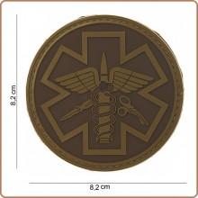Patch 3D PVC Para Medic 118 Soccorso Sanitario Emergenza Infermieri Medici TAN Emerson Art.444150-3722