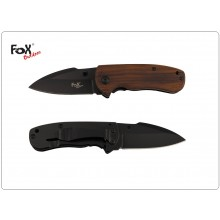 Coltello Serramanico Guancetta in Legno Di Coccobolo MFH FOX OUTDOOR Art.44643