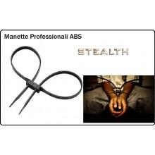 Manette Handcuffs ABS Fascetta Modello Sagomato a 8 in Plastica Alta Resistenza  USO COME MANETTE STEALTH Art.451497
