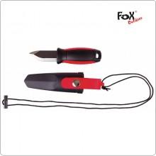 Coltello Sopravvivenza con Fodero e Cinghia da Collo Caccia Pesca Tempo Libero Fox Outdoor  Art. 45300