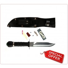 Coltello Survival Con Fodero Bussola ed Accessori INC101 Art.455415