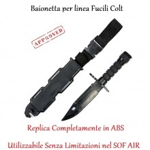 Baionetta ABS per Fucili Colt M16 M4 ecc. Soft Air Plastic Knife Dummy M16 101 INC LIBERA VENDITA E TRASPORTO FINE SERIE Art.455491