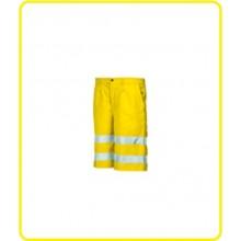 Pantalone Corto Alta Visibilità Giallo Fluo Industrial Starter Protezione Civile Art.8434