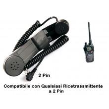 Telefono Militare Da Collegare alla Vostra Radio Midland - Motorola - 2 Pin Art.464232