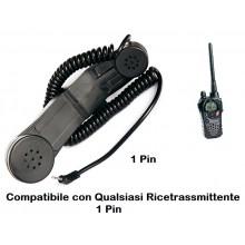Telefono Militare Da Collegare alla Vostra Radio Midland - Motorola - 1 Pin Soft Air Guerra Simulata Art. 464233