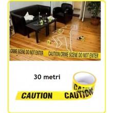 Nastro Zone Tape Caution Attenzione  Metri 30 Emergenza Siurezza Vigilanza Carabinieri Polizia Art.469361