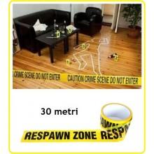 Nastro Zone tape Safety Metri 30 Emergenza Siurezza Vigilanza Carabinieri Polizia Art.469364