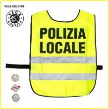 Corpetto Gilet Fratino ad Alta Visibiltà POLIZIA LOCALE VENDITA RISERVATA Vega Holster Italia  Art.4AV11