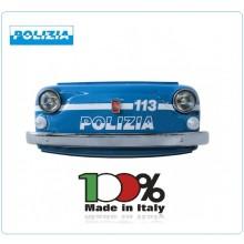 Frontalino Musetto Frontale 500 Storica WALLY Polizia di Stato Prodotto Italiano Art.20291