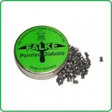 Piombini per Aria Compressa Falke Diabolo Verde Testa Punta  cal. 4,5 peso 0,56 500 Art.CN141102