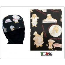 Bandana Sagomata Professionale Cooking Face  Cuochi Chef Ristorazione Colombo Mario Italia Art. 5035853