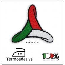 Patch Toppa Termo Adesiva  Ricamata Protezione Civile Girandola Italia  Art PC-GIR