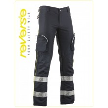 Pantalone Protezione Civile Blu + Rifiniture Gialle TREK LIGC Reverse Art.522UT