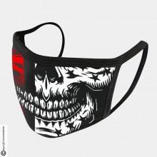 Mascherina Protettiva Modello Unisex Teschio Red Skull Red Lavabile 200 Volte COVID-19 Art. NSD-C5