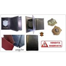 Portafoglio Apertura Libro Pelle Portadocumenti Polizia Amministrativa Modello Plus Ascot Italy Art.561PA