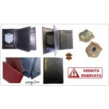 Portafoglio Apertura Libro Pelle Portadocumenti Polizia Locale Modello Plus Ascot Italy Art.561PL