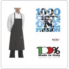 Grembiule Cucina Pettorina con Tascone cm 90x70 Bip Apron America Ego Chef Italia Art.6103113C