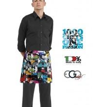 Grembiule Falda Banconiere Con Tascone GRAPHIC cm 40x70 Ego Chef Italia Art.6100144A