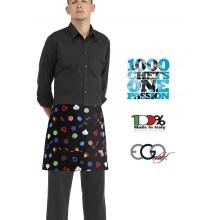 Grembiule Falda Banconiere Con Tascone BON BON cm 40x70 Ego Chef Italia Art.6100145A