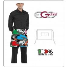Grembiule Falda Banconiere Con Tascone Camouflage cm 40x70 Ego Chef Italia New  Art.6100149A