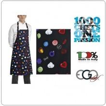 Grembiule Cucina Pettorina con Tascone cm 90x70 BON BON  Ego Chef Italia Art.6103145A
