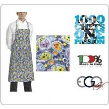 Grembiule Cucina Pettorina con Tascone cm 90x70 DOGS & CATS Ego Chef Italia Art.6103146A