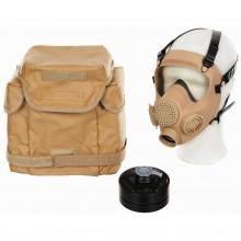 Maschera Antigas Come NUOVA Collezione Polizia Protettiva MP5 Filtro Gas Mask Modello Sabbia (SOLO SOLO UE) Art.627597F