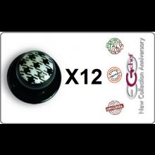 Bottone Bottoni Funghetto per Giacca Cuoco Chef Confezione 12 Pezzi Quadretti Ego Chef Art.BOTT-13