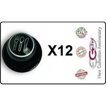 Bottone Bottoni Funghetto per Giacca Cuoco Chef Confezione 12 Pezzi Posate Ego Chef Art.BOTT-5