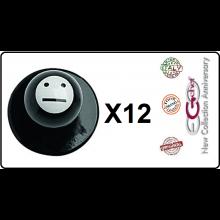 Bottone Bottoni Funghetto per Giacca Cuoco Chef Confezione 12 Pezzi Smile Senza Emozioni Ego Chef Art.BOTT-9