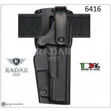 Fondina Tattica in Polyform Professionale Nera Livello Sicurezza 2° Polizia Carabinieri Vigilanza Art.6416