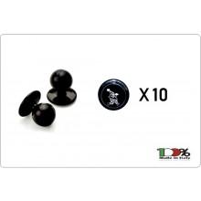 Bottoni Funghetto Nero con Logo Cuoco che Corre Confezione 10 pezzi Art. 6559409