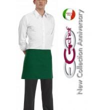 Grembiule Falda Banconiere Con Tascone Bottle Green Verde  cm 40x70 Art.6100004C