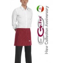 Grembiule Falda Banconiere Con Tascone Red Rosso Fuoco cm 40x70 Art.6100007C