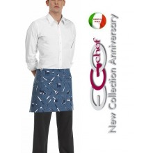 Grembiule Falda Banconiere Con Tascone Jeans cm 40x70 Art.700103