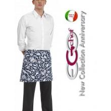 Grembiule Falda Banconiere Con Tascone Fish Pesci Pescheria cm 40x70 Ego Chef Art.700104