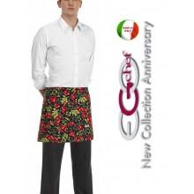Grembiule Falda Banconiere Con Tascone Tomato Pomodori cm 40x70 Ego Chef Art.6100107A