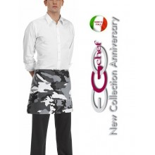 Grembiule Falda Banconiere Con Tascone Artic Mimetico Ghiaccio cm 40x70 Ego chef Art.6100111A