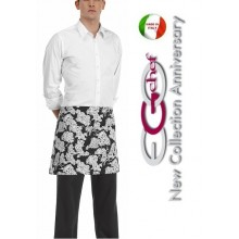 Grembiule Falda Banconiere Con Tascone Grape Grappa Uva Grappolo  cm 40x70 Ego Chef Art.700112