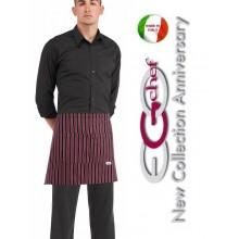 Grembiule Falda Banconiere Con Tascone Red Stripe cm 40x70 Art.700127