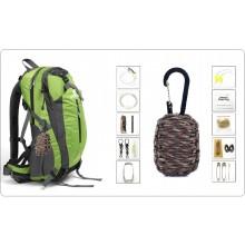 Granata Di Sopravvivenza 8 in 1 kit Emergenza Moschettone + Paracord + Accessori Outdoor Militare Campeggio Alpinismo Art.GRANATA-8