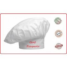 Berretto Cuoco Chef Bianco con Possibilità di Ricamo Personalizzato Art.CUOCO-1