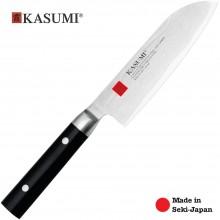 Coltello Professionale Giapponese Damasco 32 Strati  KASUMI Santoku - Chef con lama da 13 Cm Art. 84013