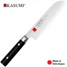 Coltello Professionale Giapponese Damasco 32 Strati  KASUMI Santoku - Chef con lama da 18 Cm Art. 84018