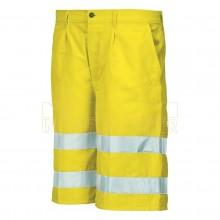 Pantalone Corto Bermuda Alta Visibilità Giallo Fluo Industrial Starter Protezione Civile Art. 8434