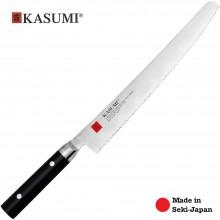 Coltello Professionale Giapponese Damasco 32 Strati KASUMI Pane - Chef con lama da 26 Cm Art. 86026