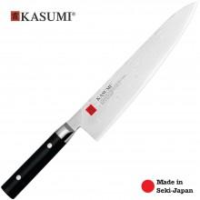 Coltello Professionale Giapponese Damasco 32 Strati KASUMI Cuoco - Chef con lama da 24 Cm Art. 88024