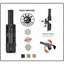 """Porta bastone 21"""" in Polimero Stampato a Iniezione Nero Tan Verde OD Vega Holster Italia Art.8VP60"""